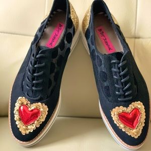 Embellished Betsy Johnson Platform Shoes